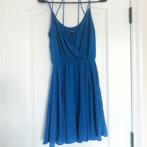 Express Blue Strappy Dress